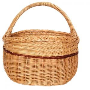 Ovalus pintas krepšys