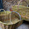 Žalias kaimiškas krepšys